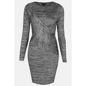 TopShop Black Spacedye Bodycon Maternity Dress
